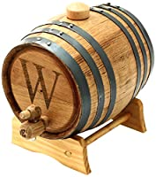 Cathy's Concepts Personalized Original Bluegrass Barrel, Medium, Letter W by Cathy's Concepts