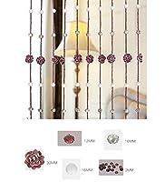 WUFENG ビーズカーテン クリスタルビーズカーテンガラスローズフラワーアイルエントランスリビングルームキッチン3色20サイズ (色 : Purple, サイズ さいず : 1.5m-35articles)