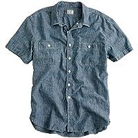 ジェイクルー J.CREW 正規品 メンズ 半袖シャンブレーシャツ SHORT-SLEEVE CHAMBRAY WORKSHIRT 並行輸入品 (コード:4032033806)