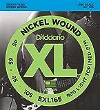 【国内正規品】D'Addario ダダリオ ベース弦 ニッケル Regular Light Top/Medium Bottom (45-105) ロングスケール EXL-165 EXL165