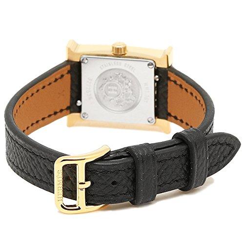 (エルメス) HERMES エルメス 時計 HERMES HH1.101.131/UNO W037894WW00 Hウォッチ TPM 17mm レディース腕時計ウォッチ ブラック/ホワイト/イエローゴールド [並行輸入品]