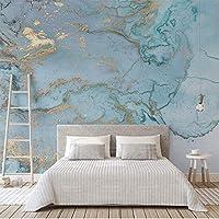 写真の壁紙レトロな高級ブルーブロンズテクスチャ大3D壁画のリビングルームの寝室のソファテレビの壁の装飾の壁紙350センチ×256センチ