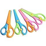 LovesTown Preschool Training Scissors,4Pcs Children Safety Scissors Pre-School Training Scissors Safety Scissors Art Craft Sc