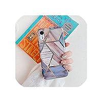 Iphone 11 Pro Max Xr Xs Max 6 6S 7 8 Plus X Soft Imd電気メッキバックカバーCoqueのための幾何学的な大理石の電話ケース、Iphone11 Pro Maxのため、O