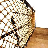 セーフティネット階段の保護ネット 天井装飾ロープメッシュ 黄色のセーフティネット階段保護ネットバルコニーフェンスネットガーデン装飾ネットガーデン植物登山ネット屋外子供セーフティネット(サイズ:2 * 5 m) (Color : Mesh12cm, Size : 2*3m)
