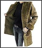 [TRENDY FS]♪ 真冬まで暖かい ロングムートンコート/2色 (XL, グリーン) [並行輸入品]