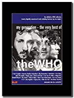 - The Who - My Generation - The Very Best Of … - つや消しマウントマガジンプロモーションアートワーク、ブラックマウント Matted Mounted Magazine Promotional Artwork on a Black Mount