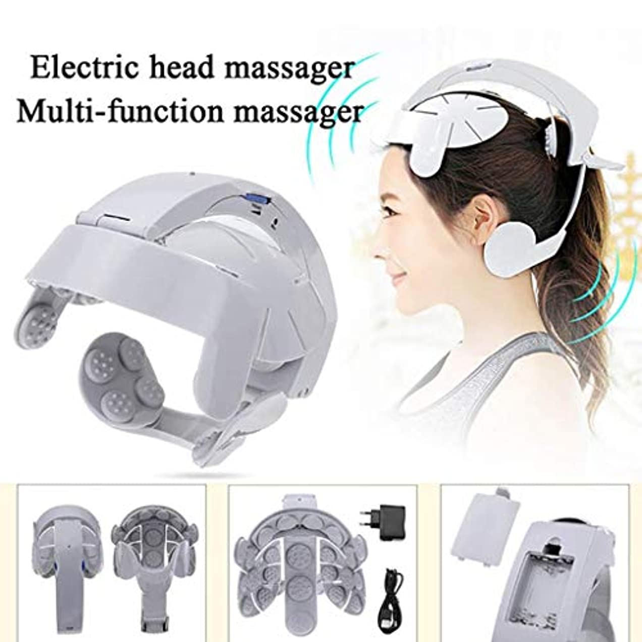 ぬいぐるみ弱いコンプライアンスヘッドマッサージャー、電動マッサージャー、振動ヘッドマッサージャー、ストレス/痛みを和らげる、血液循環/睡眠を促進する