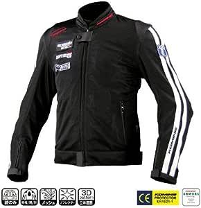 コミネ KOMINE バイク ライディング メッシュ ジャケット アウター レジェンド プロテクター 通気性 ブラック 4XL 07-014 JK-014