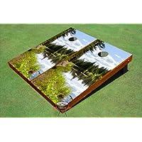 湖ビューテーマCornholeボード