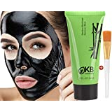 Blackhead Remover Mask Gift Brush tool Kit included Charcoal Black Mask For Face Deep Detox black mask purifying peel off mask Reduces Pores Pimple black peel off mask