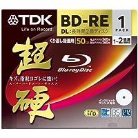 TDK 録画用ブルーレイディスク 超硬シリーズ BD-RE DL 50GB 1-2倍速 ホワイトワイドプリンタブル 1枚 10mmケース BEV50HCPWA1A