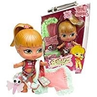 MGA Entertainment Bratz Babyz So Cute Series 13cm Doll - FIANNA with Baby Bottle Necklace, Shoulder Bag, Frageance the Dragonfly Icon and Blanket