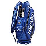 本間ゴルフ キャディーバッグ TOUR WORLD メンズ キャディバッグ 9型 47インチ対応 ブルー 2017年プロモデル  CB-1701 ブルー
