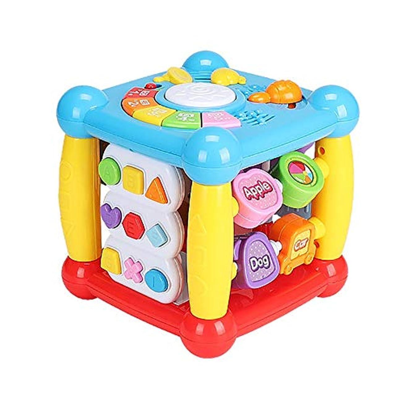 悲鳴危機歯光と音と楽器の学習表の音楽赤ちゃんのおもちゃ就学前教育ゲーム活動センターギフト (Color : Multi-colored, Size : 16.8x16.8x16.8m)