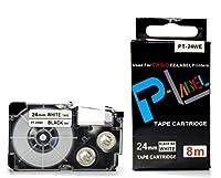 カシオ ネームランド用 互換 テープカートリッジ 24mm XR-24WE 白地黒文字