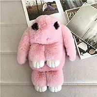 AMAZACER Girl's Faux Fur Rabbit Backpack Christmas Birthday Gift Cute Bunny Rucksack Handbag (Color : G)