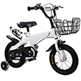 バスケットとトレーニングホイール付き子供用自転車、12/14/16/18インチ、子供のためのギフト、バイクのバランスをとるため
