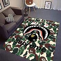 YETUGE-X ラグカーペット 洗える 滑り止め 絨毯カーペット おしゃれ 滑り止め オールシーズン 長方形 シンプル 家具