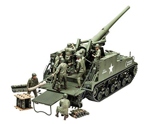 タミヤ 1/35 ミリタリーミニチュアシリーズ No.351 アメリカ 陸軍 155mm M40 自走砲 ビッグショット プラモデル 35351の詳細を見る