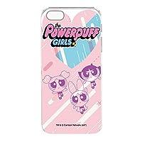 パワーパフガールズ iPhoneSE ケース クリア ハード プリント デザインF-D (ppg-029) スリム 薄型 WN-LC410778