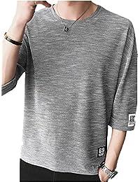HAFOXW T シャツ メンズ 5分袖 5分丈 7分袖 7分丈 吸汗速乾 汗染み防止 ウェットラウンドネック 夏 メンズ 夏tシャツ 夏季対応トップス TS6040