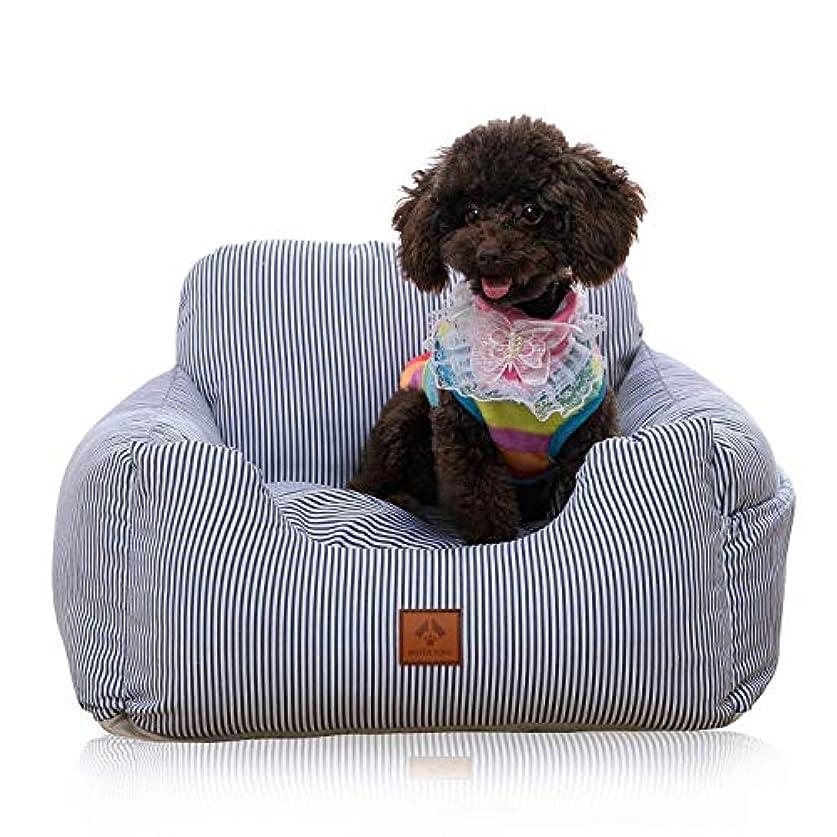バンド免疫批判JSFQ 犬用カーシート、車用犬ブースターシート/小中型犬と猫用のペットペットキャリアキャリアプロテクターカバー、最大30ポンドのシートベルト付き (Color : D)