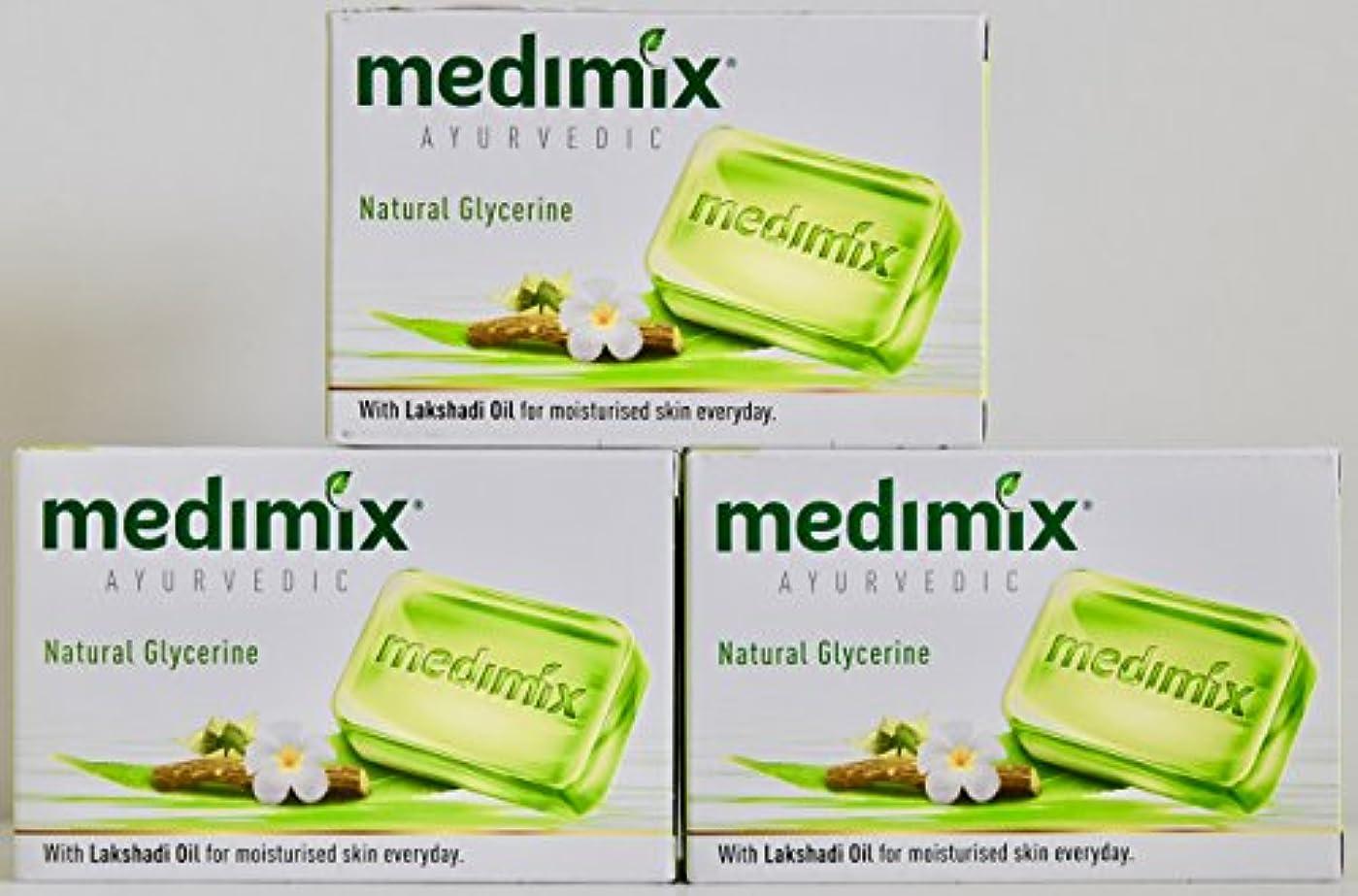 再編成する収穫痛みMEDIMIX メディミックス アーユルヴェディック ナチュラルグリセリン 3個入り  125g