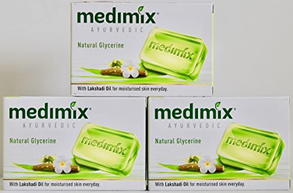 ふりをする隙間道を作るMEDIMIX メディミックス アーユルヴェディック ナチュラルグリセリン 3個入り  125g