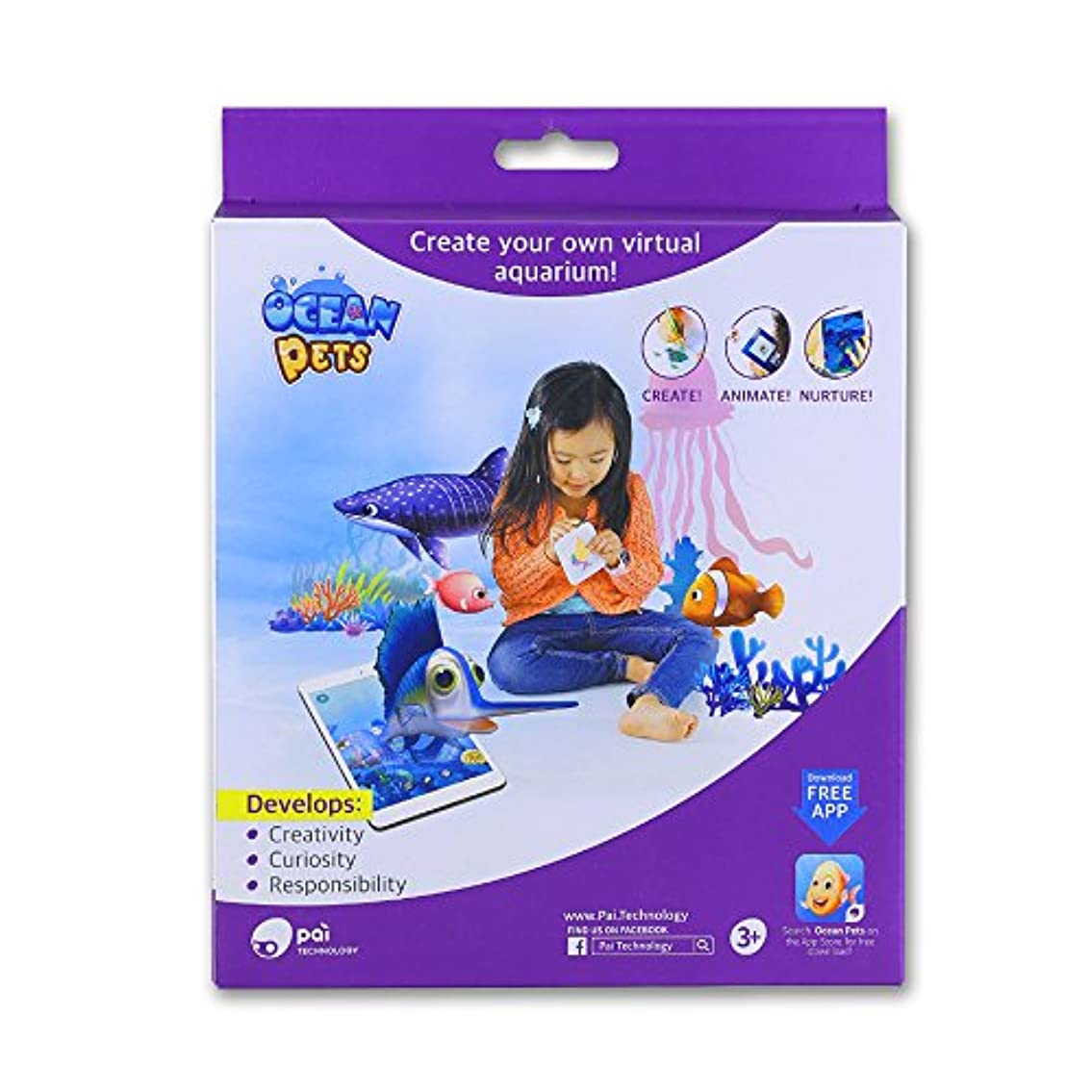 Ocean Pets Kids Toy Clay and Dough Artist Studio, 3D AR Fun Toy for iPad Game, 1 Count