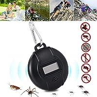 虫ザッパー、コンパスが付いている携帯用屋外の超音波カのリペラーの昆虫のは虫剤、太陽動力を与えられたまたはコンパスマイクロUSBの充満USB