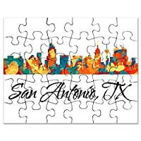 CafePress–San Antonio Texasスカイライン–ジグソーパズル、30個。