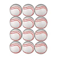 SODIAL 野球、2.5インチの泡絞りボール、ストレス解消用、リラックスできるリアルな野球、スポーツボール(12個)
