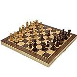 GYBBER&MUMU 国際将棋 木製 磁石式 携帯型 チェスセット chess 折りたたむボード マグネット 家庭 収納可 娯楽 脳トレーニング