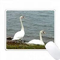 白鳥の湖のビーチ PC Mouse Pad パソコン マウスパッド