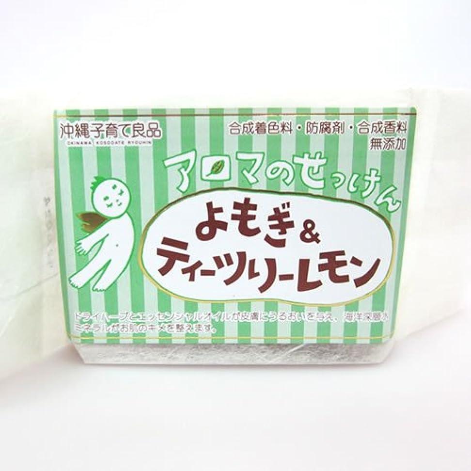 仕立て屋食用子供っぽい沖縄子育て良品 アロマのせっけん よもぎ (100g)