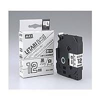 (業務用セット) マックス ビーポップ ミニ(PM-36、36N、36H、24、2400)・レタリ(LM-1000、LM-2000)共通消耗品 ケーブルマーキング用 8m LM-L512BWS 白 黒文字 1巻8m入 【×2セット】