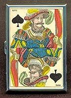 Playingカード1850KingスペードIDウォレットorシガレットケースアメリカ製