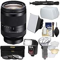 Sonyアルファe-mount FE 24–240mm F / 3.5–6.3OSSズームレンズとFlash +ソフトボックス+ディフューザー+ 3フィルタ+キットfor a7, a7r , a7s Mark IIカメラ