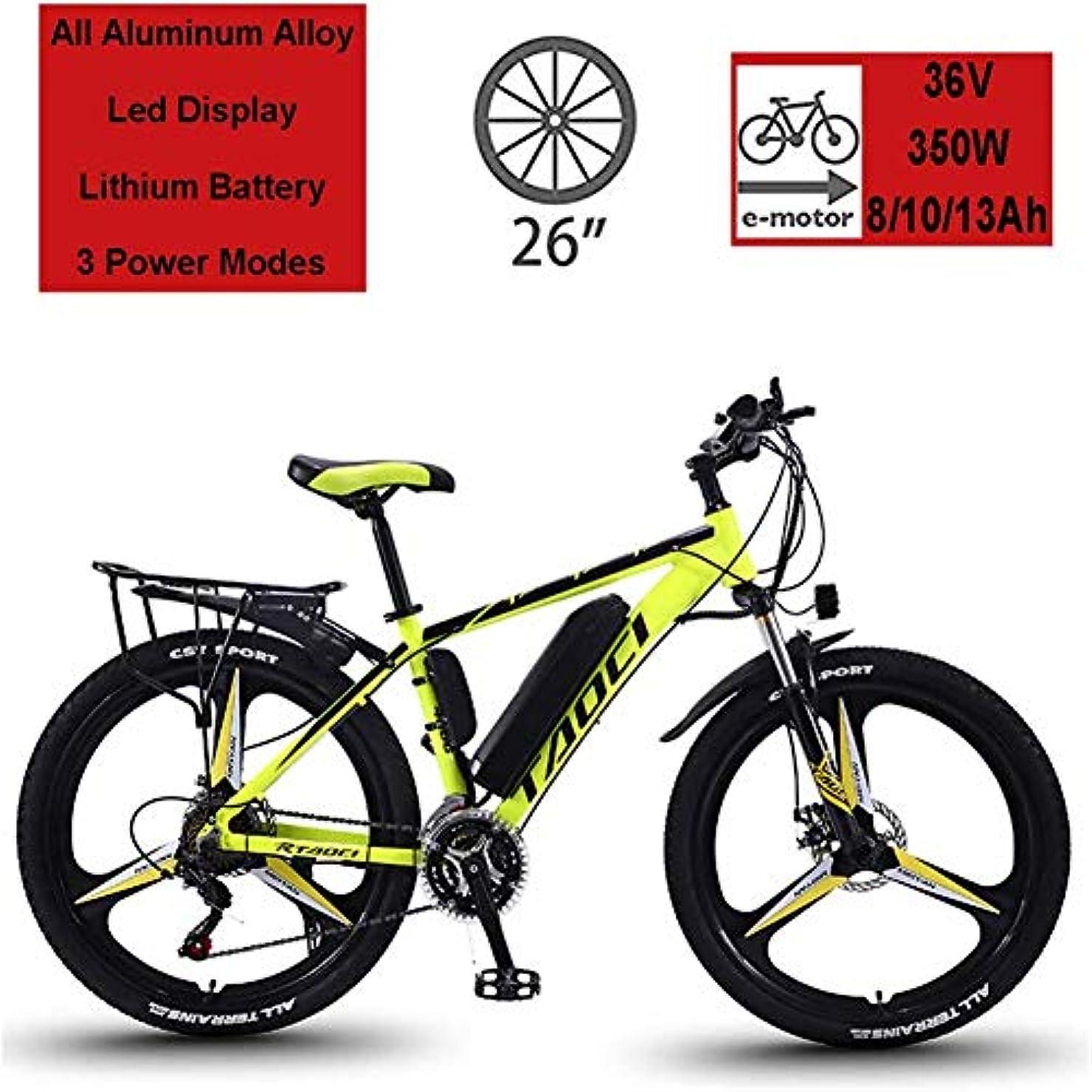 追跡国歌比類なき2020年の新しい大人用電動自転車、26インチ36 V 350 W 13Ah LECマグネシウム合金サイクリング自転車、全地形型リチウムイオンバッテリーマウンテンバイク、男性用150 kg