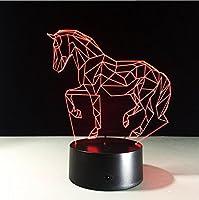 ZWL ナイトライト3Dランプ、装飾ライト、LEDタッチカラフルナイトライト ファッション.z ( 色 : 赤 )