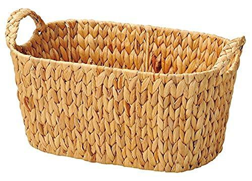 丸和貿易 かご 天然素材 プレーン コンテナオーバルバスケット L 400677802