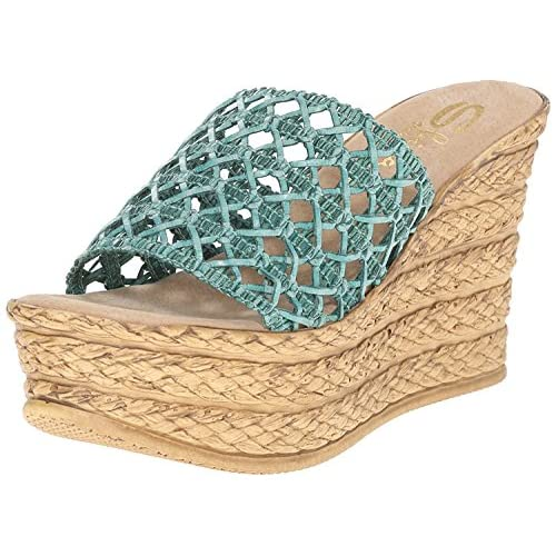 Sbicca Women's Plantain Wedge Sandal Turquoise 6 B US [並行輸入品]