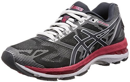 save off c6c7d 08c2a Details about ASICS Running Shoes LADY GEL-NIMBUS 19 TJG513 Gray Red US6  From japan