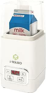 【 製菓衛生師が監修 】i-WANO 牛乳パックのままポンッ ヨーグルトメーカー 【温度調節機能(25~65℃) / タイマー機能(1~48時間)】 甘酒 麹 などさまざまな発酵食品にも対応 1,000ml容器・計量スプーン・クリップ2個付属
