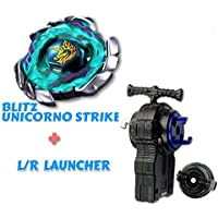 Blitz Unicorno 100rsf Striker bb117 4d Bey Battling Top Blade bb-117スターターセットwith Beylauncher l-r ( Spins両方左&右)