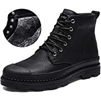 Unparalleled beauty Mens Boots Work Hiking Chelsea Cowboy Military Leather Boots Men(Black-43/9 D(M))