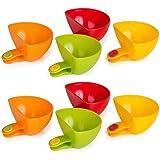 Dip Clip Bowl Plate Holder -8pcs Color Plastic Dish Chip And Dip Serving Set For Spice Tomato Sauce Salt Veggie Vinegar Ketch