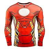 Niceclothstore Iron ManコスプレTシャツ アイアンマン吸湿吸汗速乾フィットネスシャツ Spider Manコスチューム上着スパイダーマンシャツメンズ