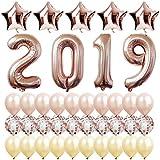 2019 バルーン ローズゴールド 大型 ローズゴールド シャンパンゴールドキット 年越しパーティー用品 2019 卒業パーティー用品 2019 新年パーティーデコレーション 卒業式デコレーション